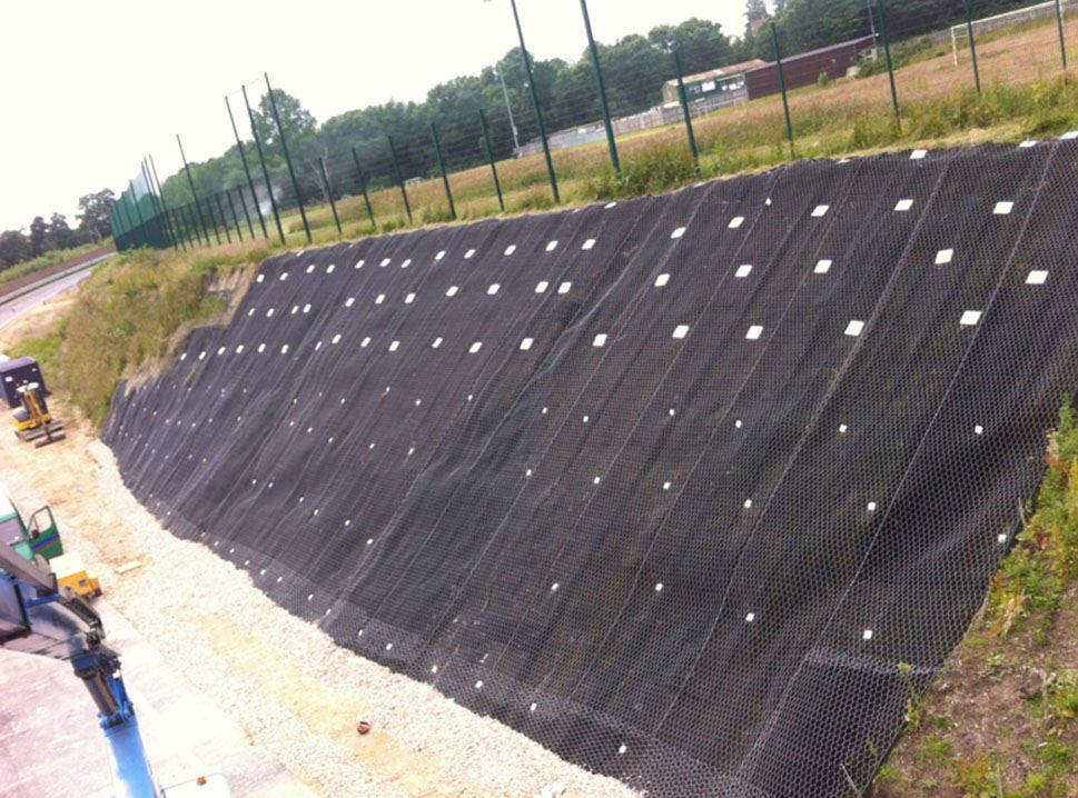 Soil Nail Installation : Soil nails contractor works on stabilisation project in