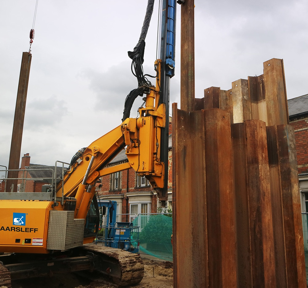 CFA Piles And Sheet Piling Installed In Newark