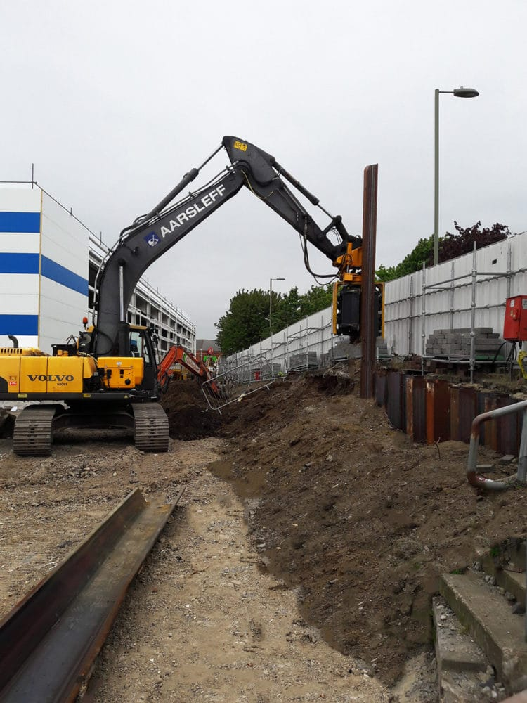 Horizon Retail Park, Farnborough, Sheet Piling, Aarsleff