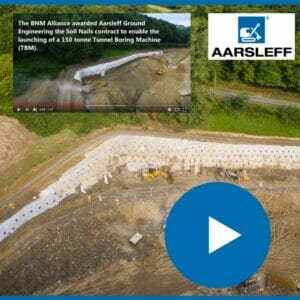 Aarsleff install Soil Nails at Frydd Wood, Video Part 1