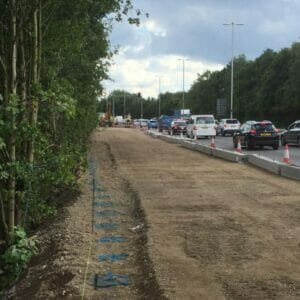 A33 Reading, Aarsleff Ground Engineering, Driven Precast Piling
