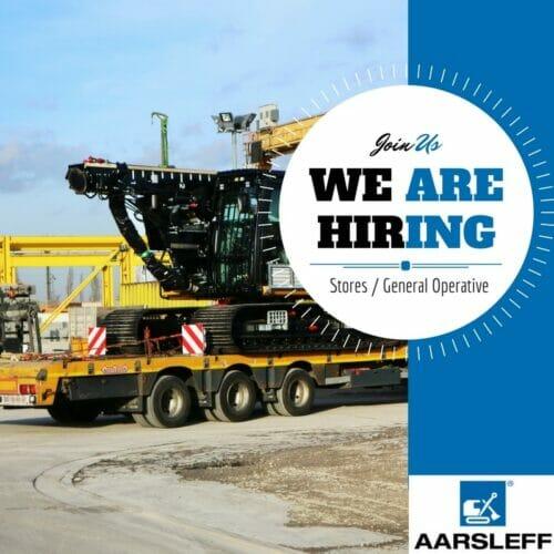 Aarsleff hiring Stores General Operative