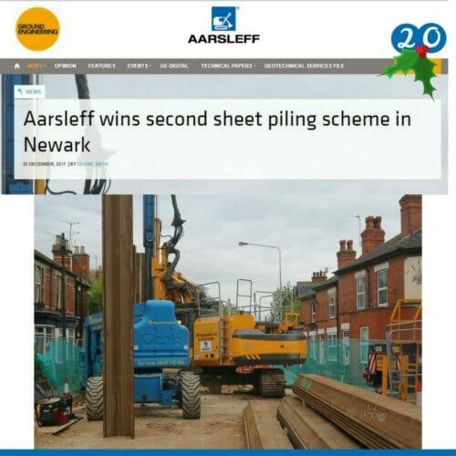 Sheet piling scheme Aarsleff