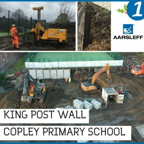 King Post Wall Copley primarySchool