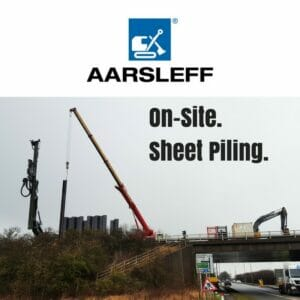 Aarsleff install Sheet Piles as part of the Bypass Embankment Scheme in Sleaford