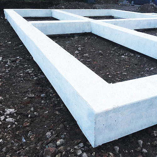Precast Concrete Ground Beams Solution