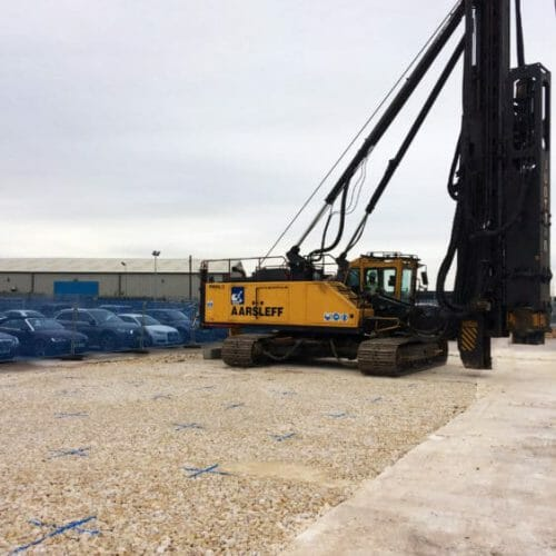 Aarsleff Ground Engineering Installing Precast Concrete Piles for Wind Turbine in Hull