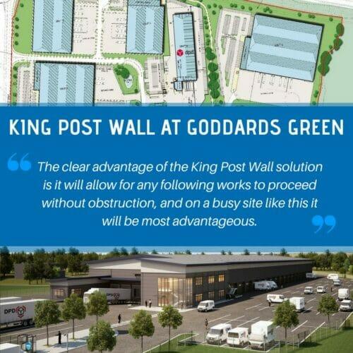 Goddards Green King Post Wall