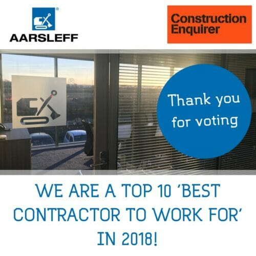 We are a Top 10 'Best Contractor to work for' in 2018!