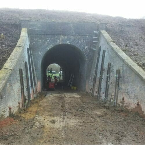 Soil Nails at Churchdown Underbridge completed