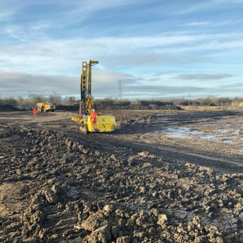 treatment of shallow mine workings - Aarsleff's Drilling & Grouting works in Kenton Bankfoot,