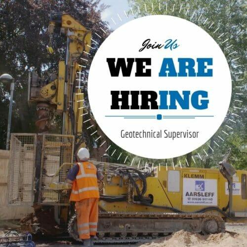 Geotechnical supervisor - Hiring