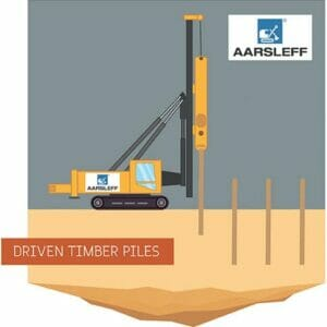 Driven Timber Piles Driven Piling Illustration
