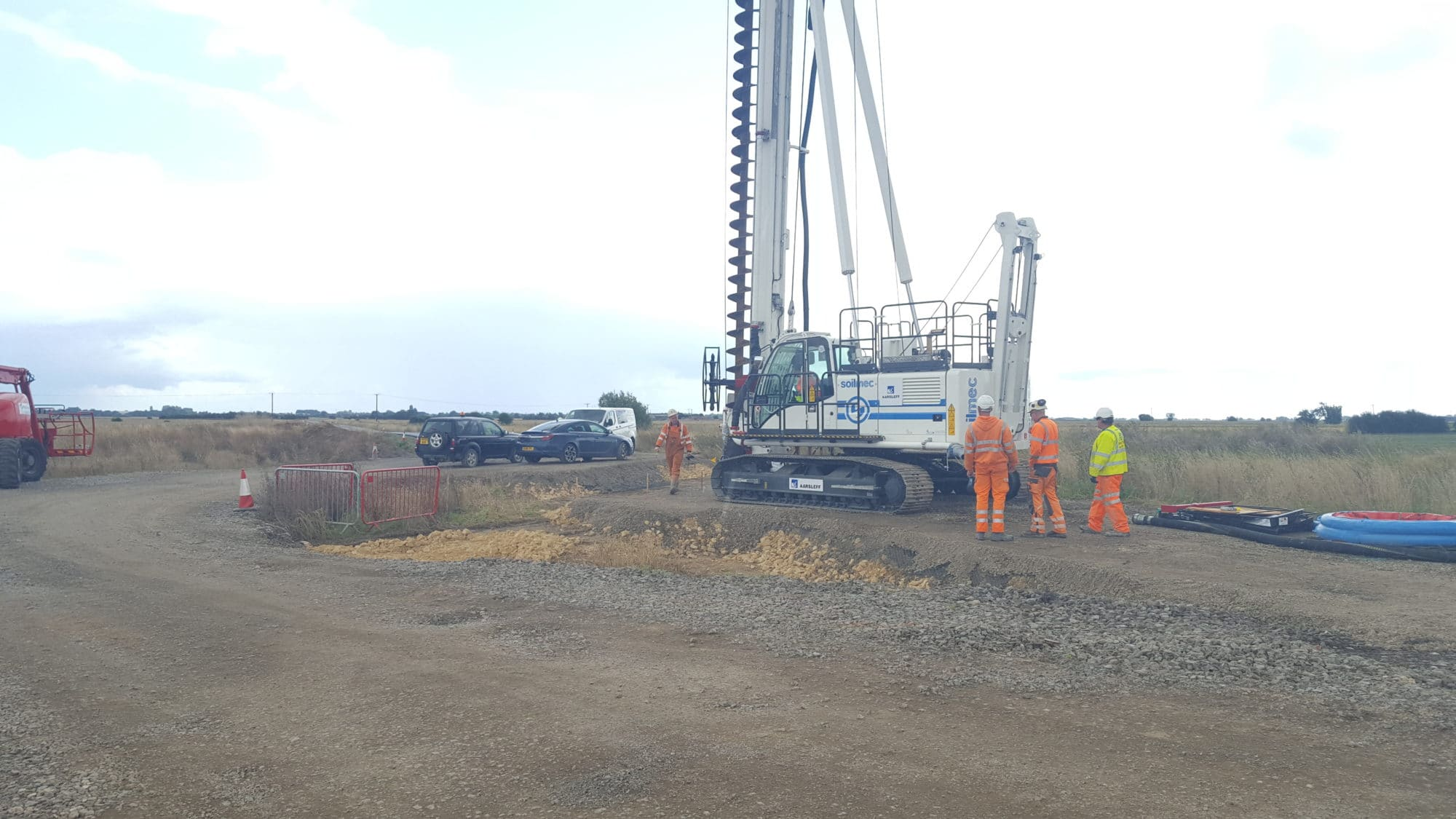 CFA Piling Works in Leighton Buzzard