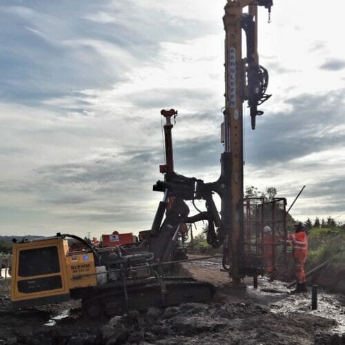 Drilling and grouting in Scotland for A737