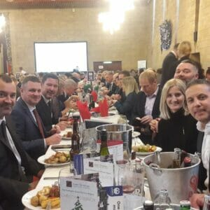 Aarsleff Ground Engineering table at Lord's Taveners Christmas event 2019