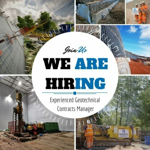 Experienced Geotechnical Contracts Manager