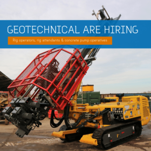 We are Hiring - Geotechnical Vacanies