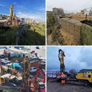 Emergency retaining wall at Gibraltar Rock Tynemouth