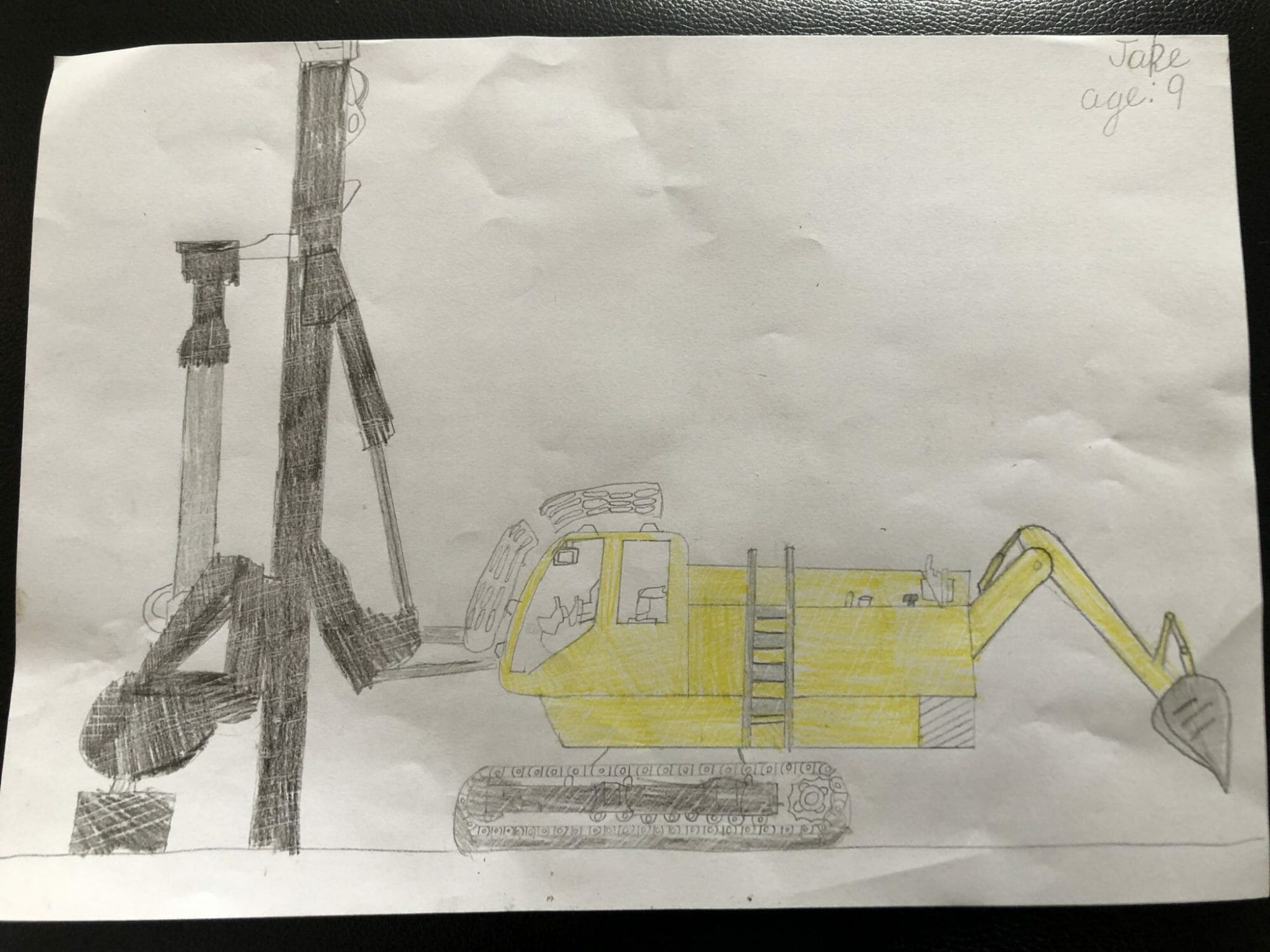 Children's Construction Rig Drawing