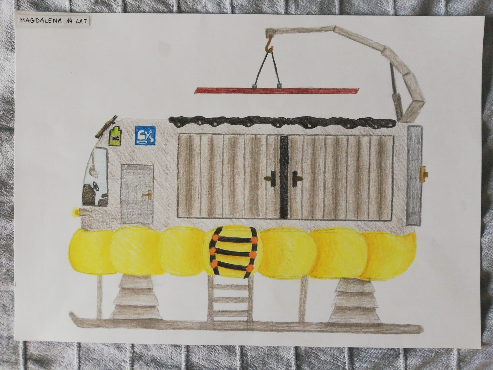 Childrens construction drawing