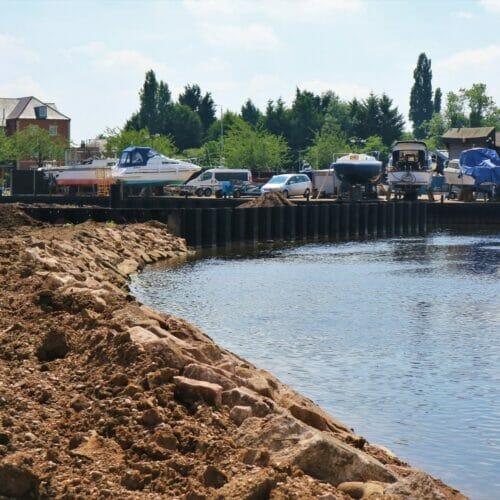 Newark Marina Sheet Piling