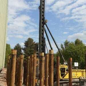 Steel Tubular Piles at Desford Brick Factory