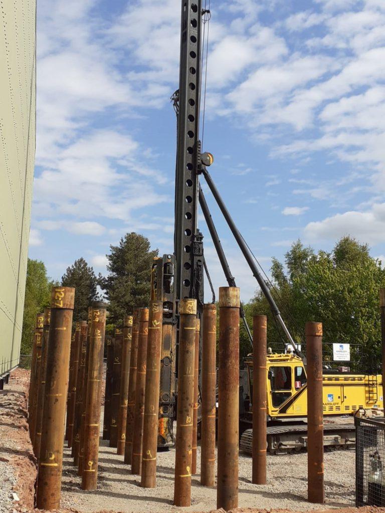 Steel Tubular Piles at Desford Brick Factory