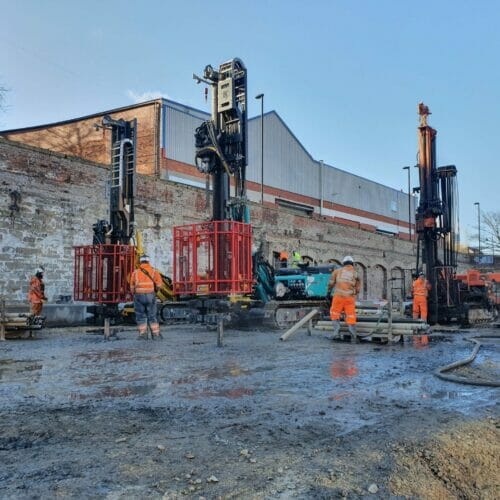Drilling and Grouting and Piling works for new apartments in Ouseburn, Newcastle