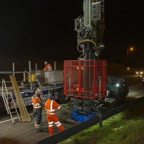 probe drilling and grouting