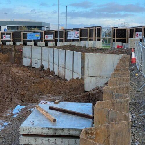 King Post Walls and Driven piles