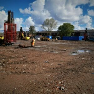 Drilling and grouting treatment