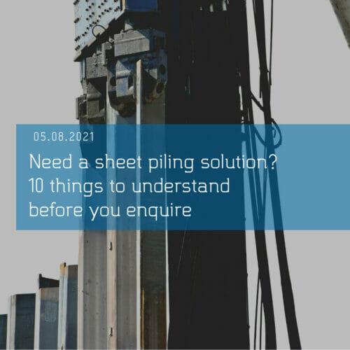 sheet piling uk