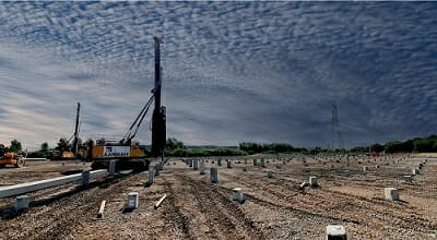 Piling for Warehouses in the south West