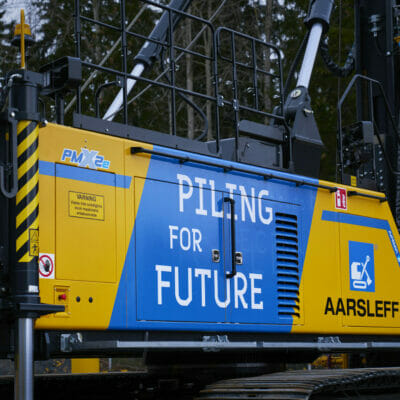 Aarsleff Ground Engineering AB in Sweden invests in the world's first battery-powered pile driving rig